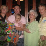 Frances with her Daughter, Granddaughter, Great Grandson, and Great Great Grandson.