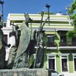 Bishop's procession statue