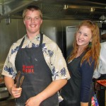 Our two aspiring chefs