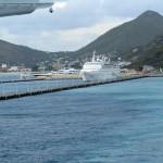 Leaving the Pier in St. Maarten