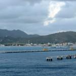 Looking back at Great Bay in St. Maarten