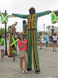 Stilt Walker in Jamaica