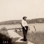 Fred Kott (my Great Grandfather) at the lake