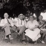August Kott, John C. Kott, Josephine (married to John) & Mary (married to August).  Josephine & Mary are sisters.