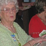 Great Grandma had a wonderful time at the party.