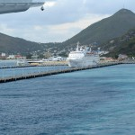 Leaving the Pier in St. Maarten