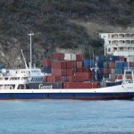 Cargo ship in St. Maarten